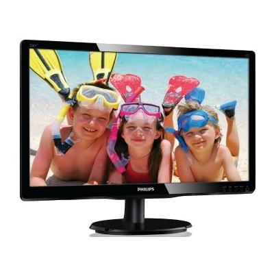 "Monitor Philips 226V4LAB, 21,5"" Full HD, DVI, głośniki, ES5.0, Glossy czarny"